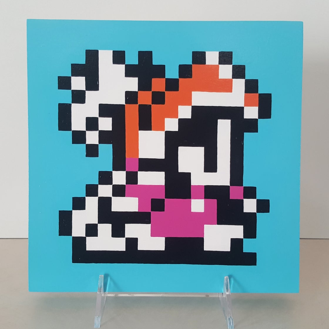 "Image of Final Fantasy 3 - Onion Knight Wooden Panel Pixel Painting - 8"" x 8"""