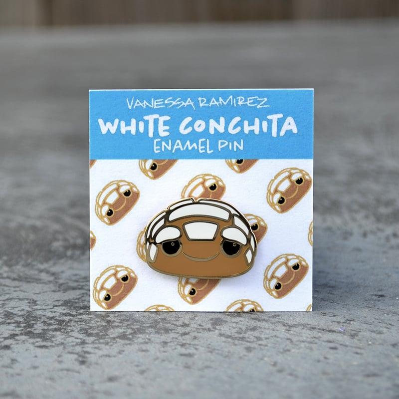 Image of White Conchita Enamel Pin