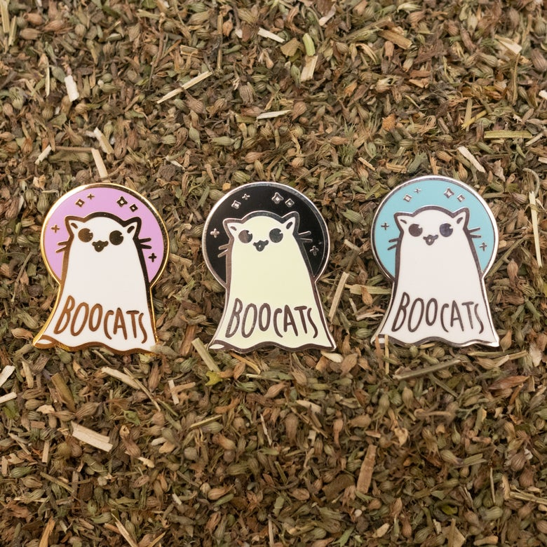 Image of Halloween Boocats Pins