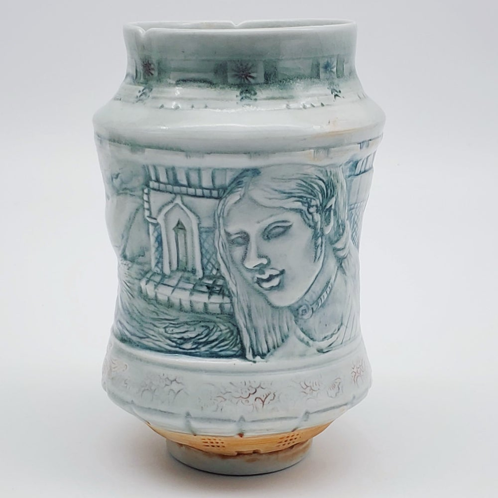Image of Whale Sisters Porcelain Sculptural Vase