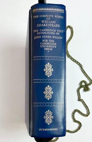 Image of Shakespeare Blue Book Purse