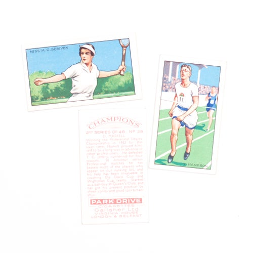 Image of Champions Cigarette Cards - Set of 8