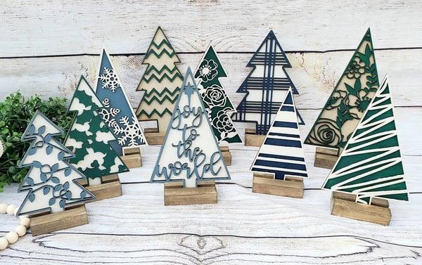 Image of 3D Layered Mini Christmas Trees - Series #1