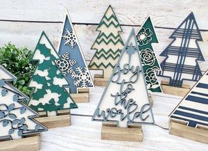 Image of 3D Layered Mini Christmas Trees - Series #1