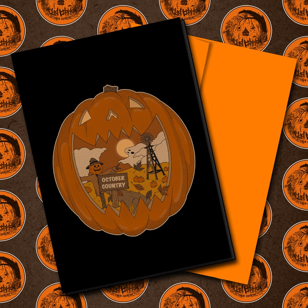 Image of Signed Halloween Greeting Card