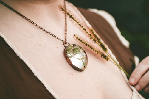 Image of Valerian (Valeriana officinalis) - Copper Plated Necklace #6