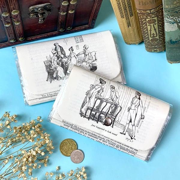 Image of Pride and Prejudice Book Page Wallets, Jane Austen