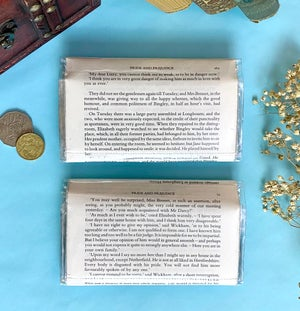 Image of Pride and Prejudice Book Page Wallets, Jane Austen