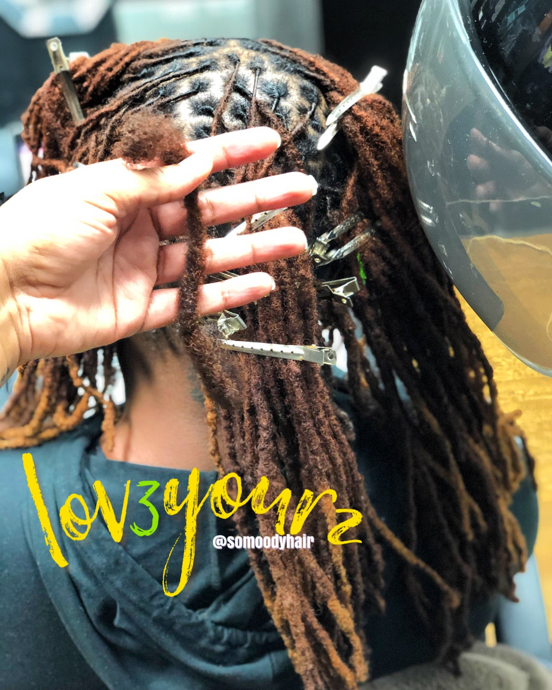 "Image of ""LOV3YOURZ"" Loc Extensions 🔒✖️➿✨"
