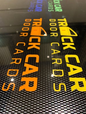 Image of 2 x Track Car Door Card Sticker (different colours)
