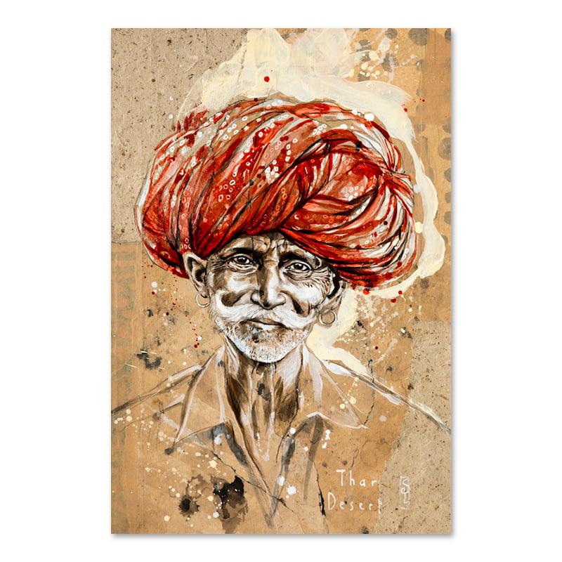 """Image of Paper Art Print - """"Arjun"""""""