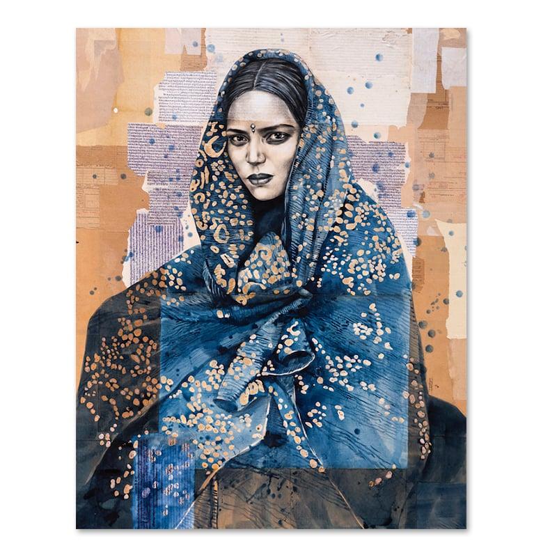 """Image of Paper Art Print - """"Kalbelia"""""""