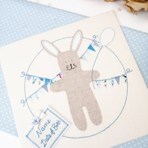 Image of Personalised Bunny Original Art Textile