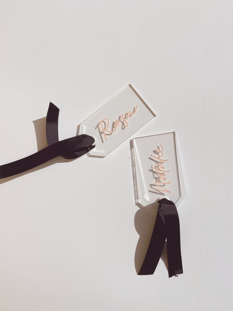 Image of Personalised Acrylic Tags