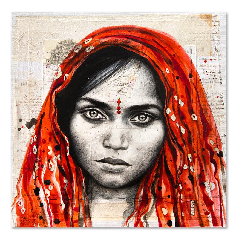 """Image of Paper Art Print - """"Papu en rouge"""""""