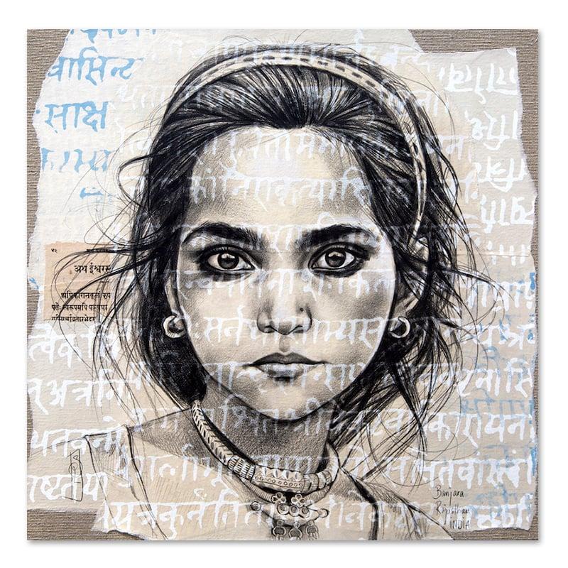 """Image of Canva Art Print - """"Les yeux noirs Banjara"""""""