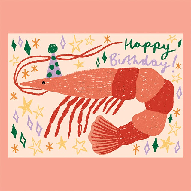 Image of Birthday Shrimp Card