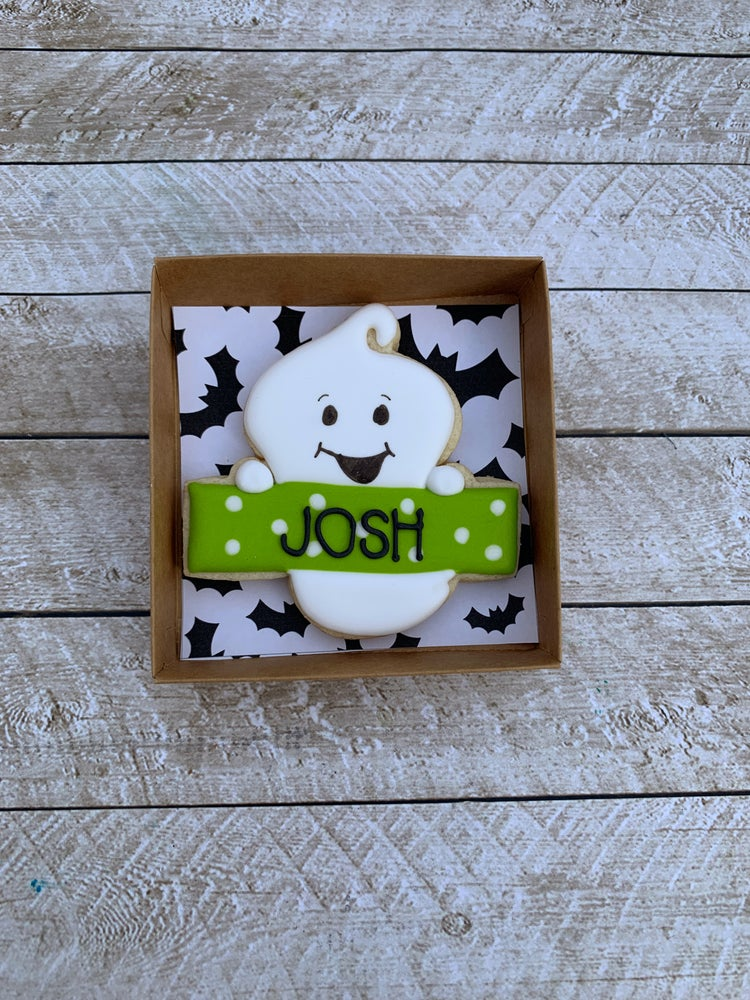 Image of Personalized Boy Ghost Cookie