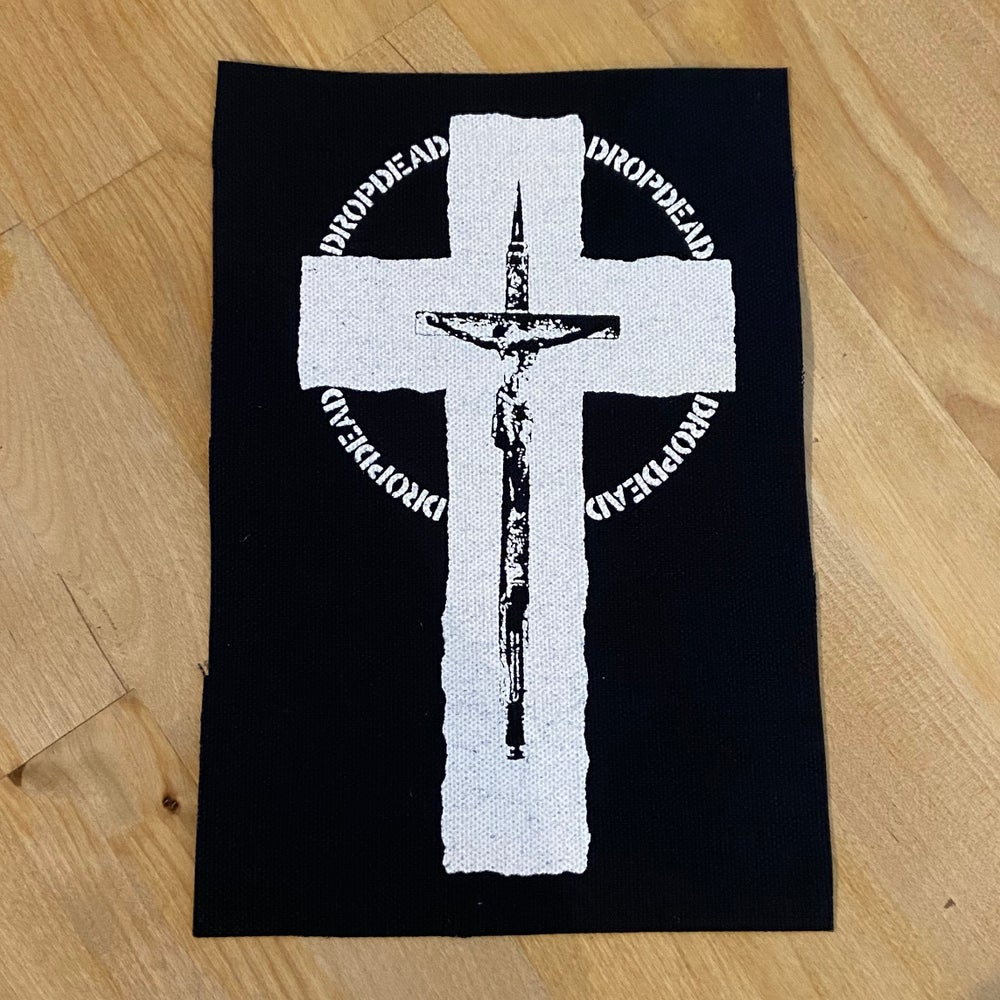 """DROPDEAD """"Cross / Christ Missile"""" Patch"""