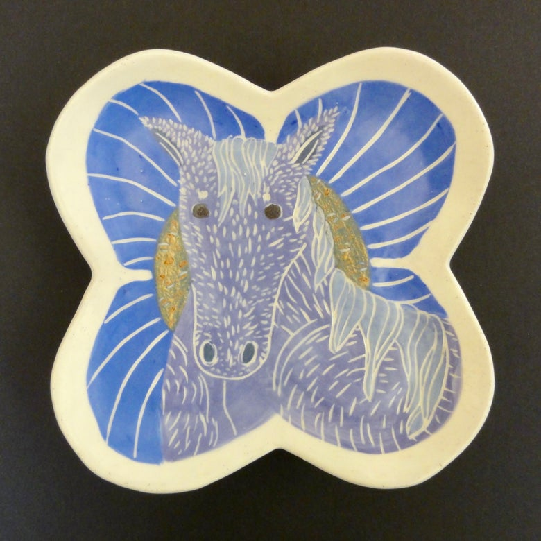 Image of Lavender Dream Horse Plate
