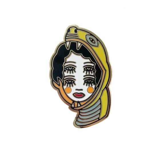 Image of Four-eyed Snake Girl pin