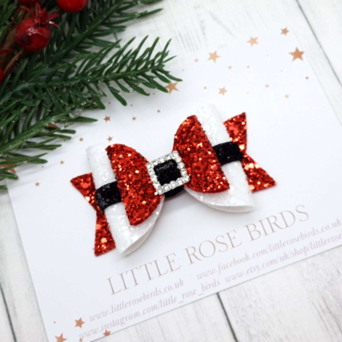 Image of Red Santa Bow