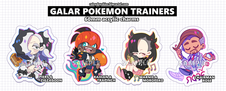 Image of Galar Pokemon Trainer Charms