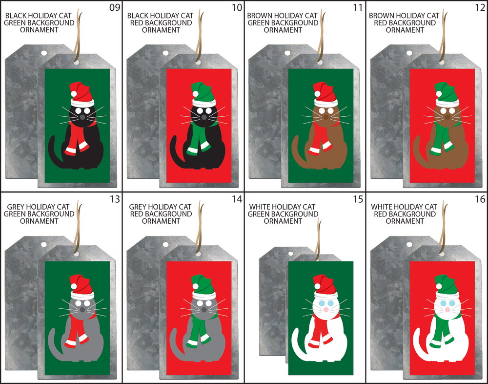 SIMPLY CATS HOLIDAY ORNAMENTS