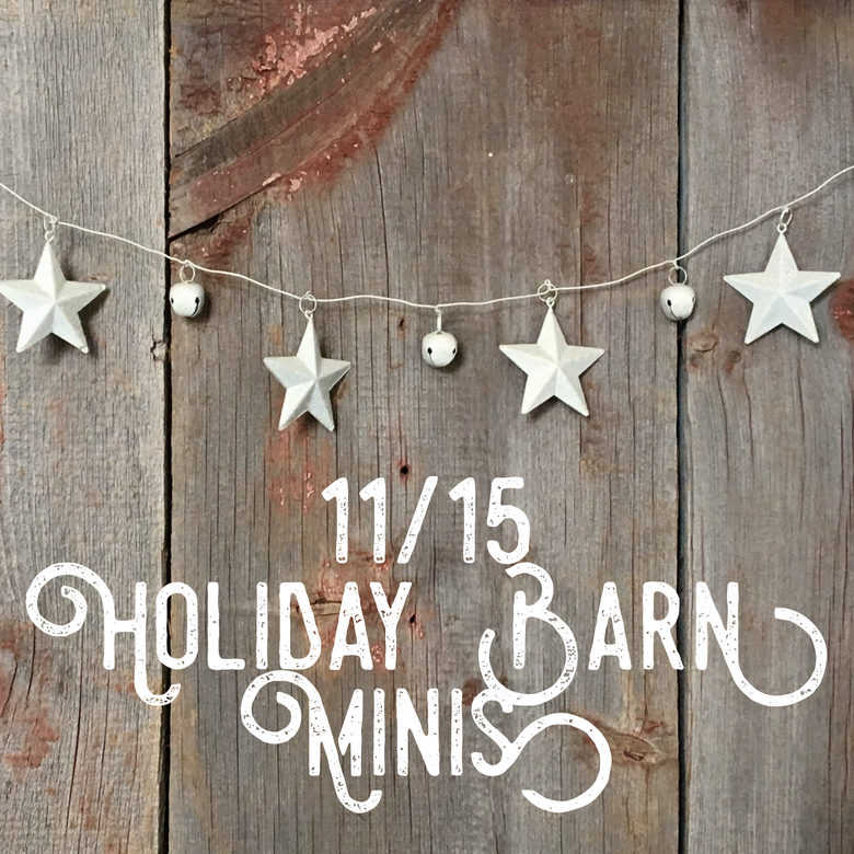 Image of 11/15 Holiday Barn Minis  (Booking Deposit)