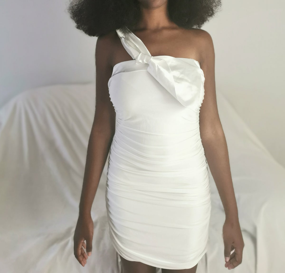 Image of slinky pearl dress