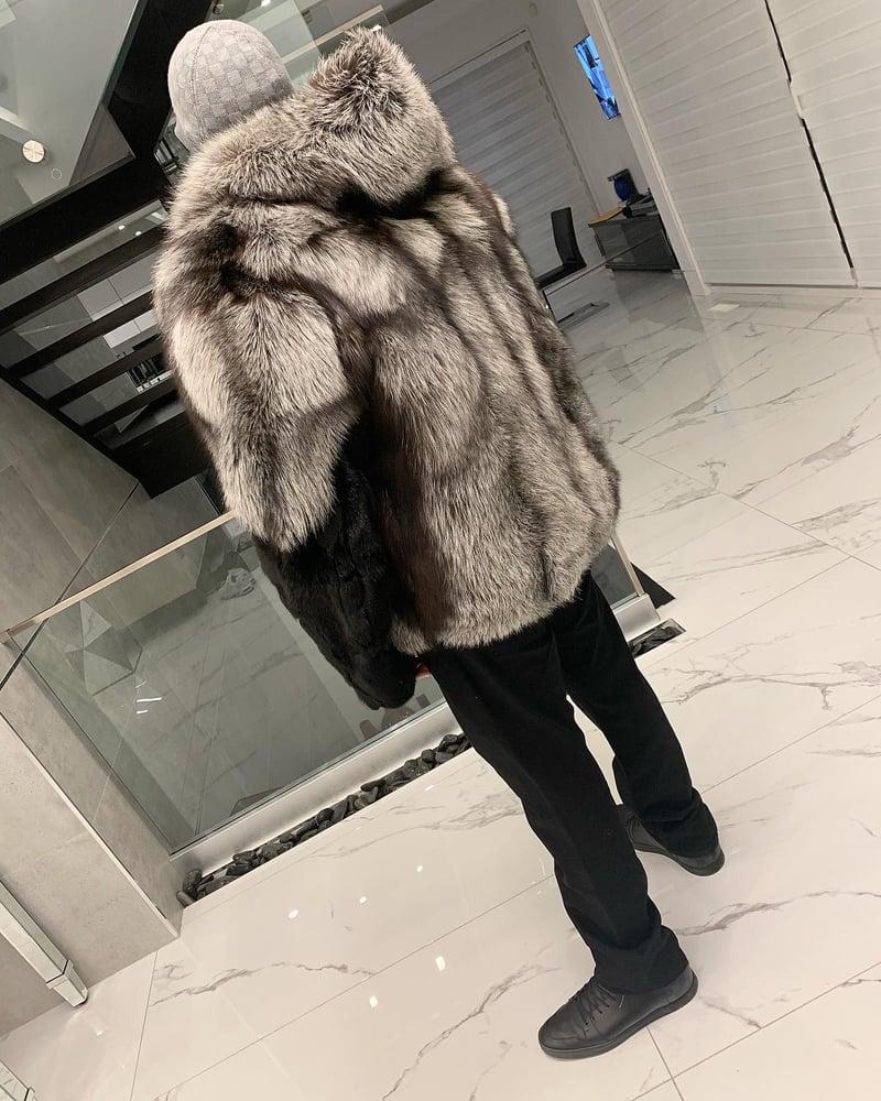 Image of MENS MINK X FOX FUR COAT