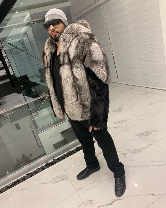 Image of MENS MINK X FOX FUR COAT
