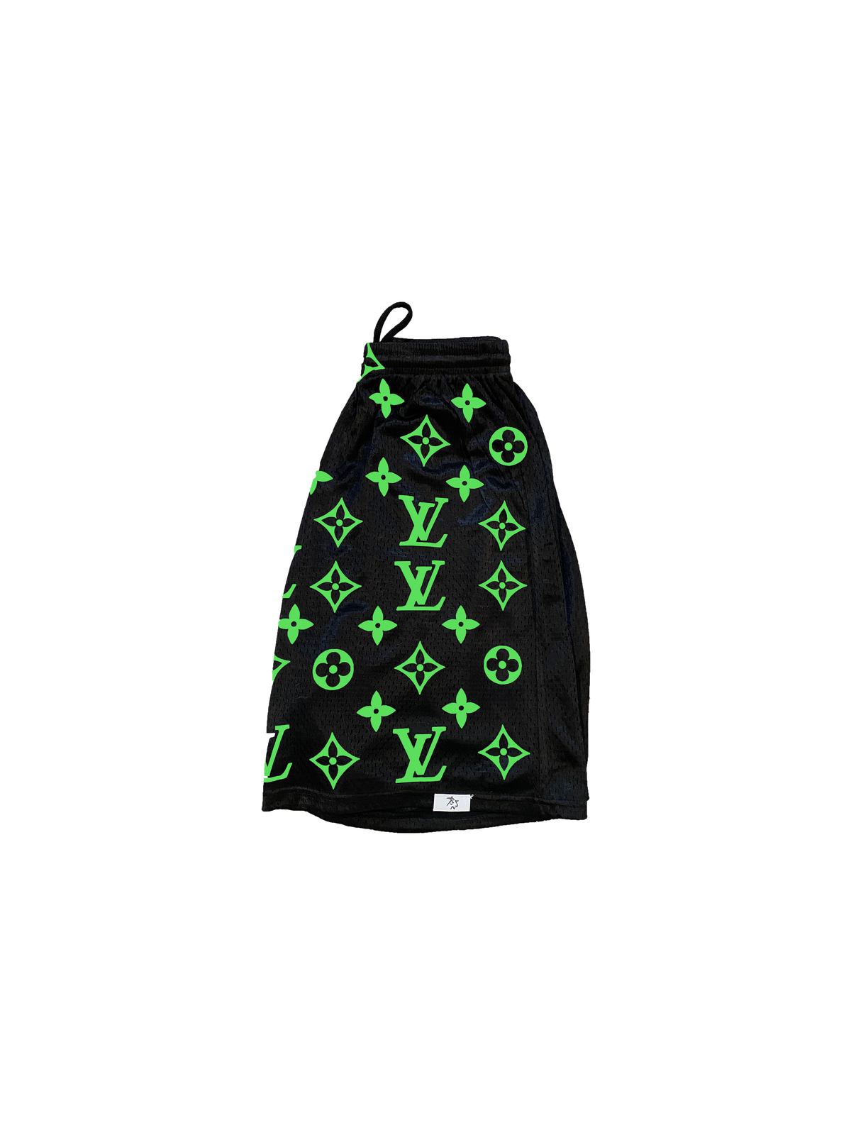 Limited Edition Neon Green LV Print Shorts