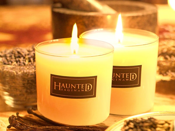 Image of Haunted Saginaw Scented Candle 2 Candle Combo