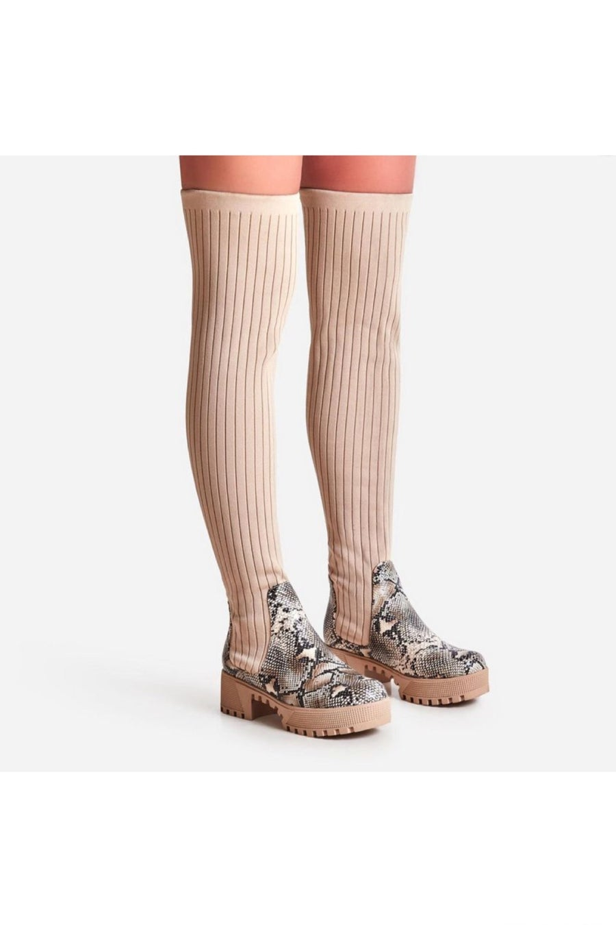 Image of Colorado Knitted Over The Knee Thigh High Long Sock Boot