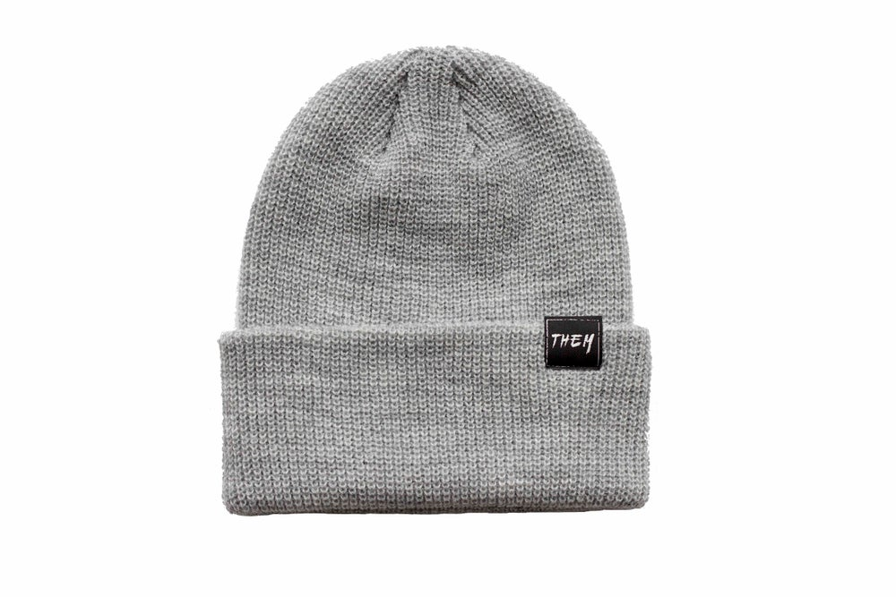 Image of Basic Beanie - Heather Grey