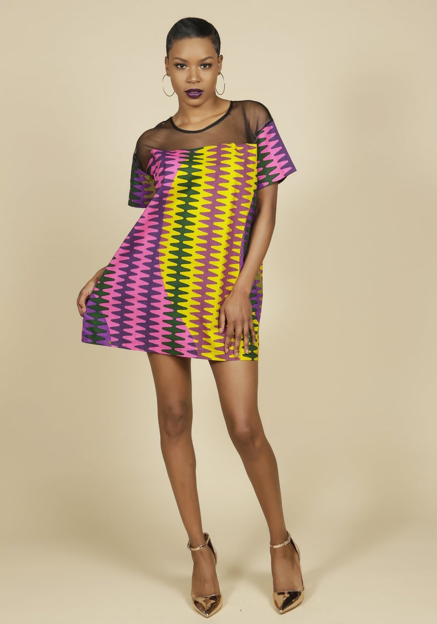 Image of Ankara mesh tunic