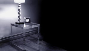 Image of Acrylic Mitred Side Table UK