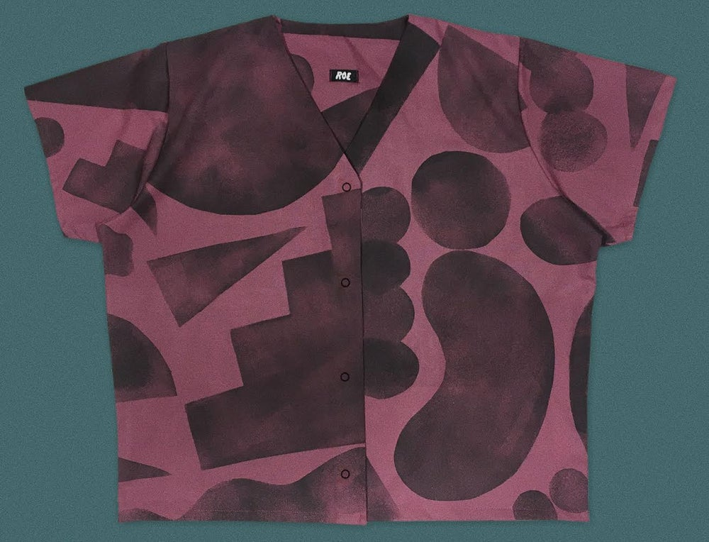 Image of STENCIL SHAPES RASPBERRY SHIRT