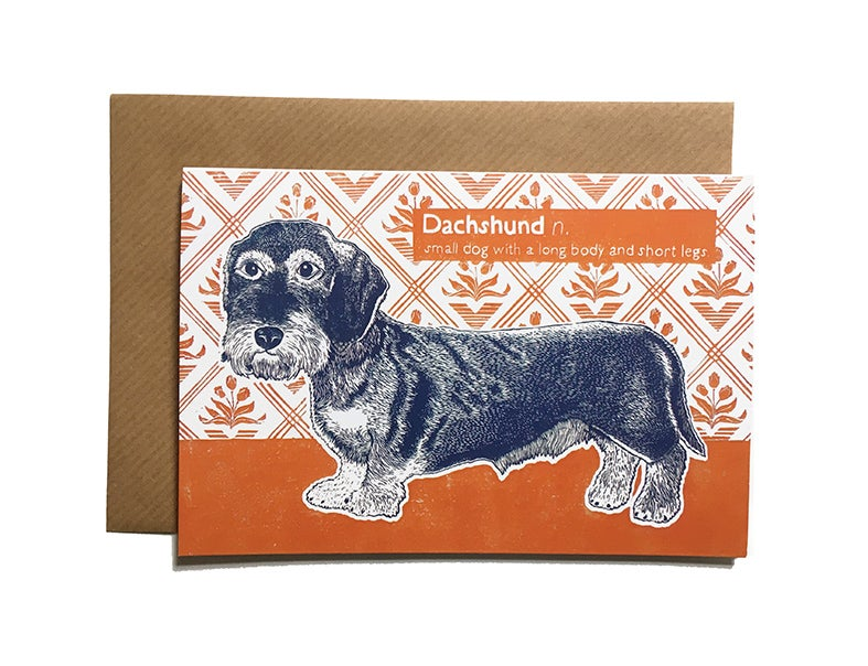 Image of Dachshund - Greetings Card