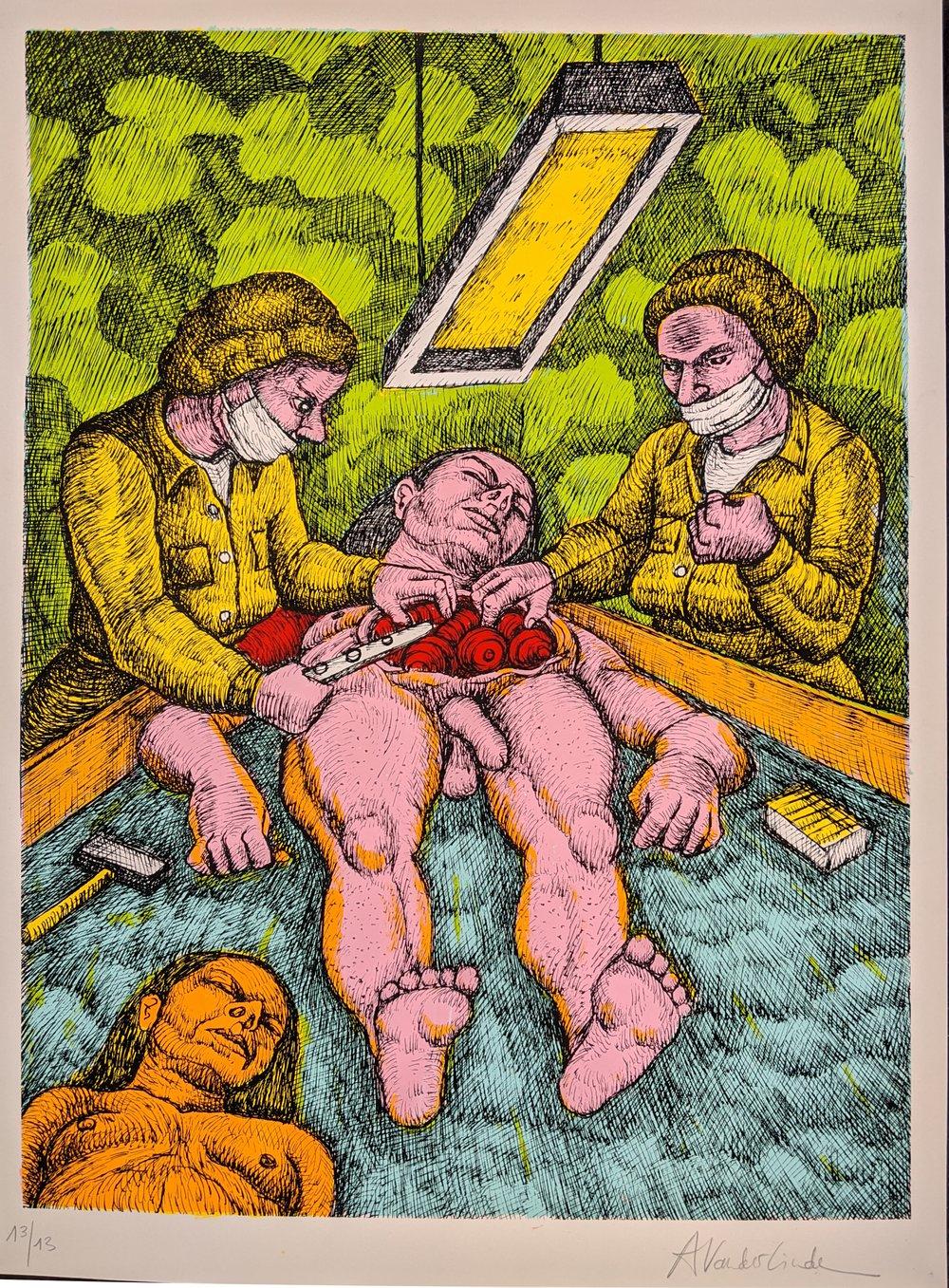 Image of Surgery -Print by Anne Van der Linden