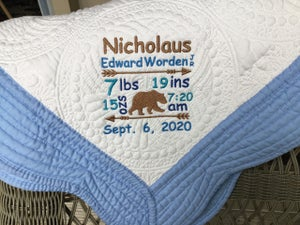 Image of Custom Baby Blanket