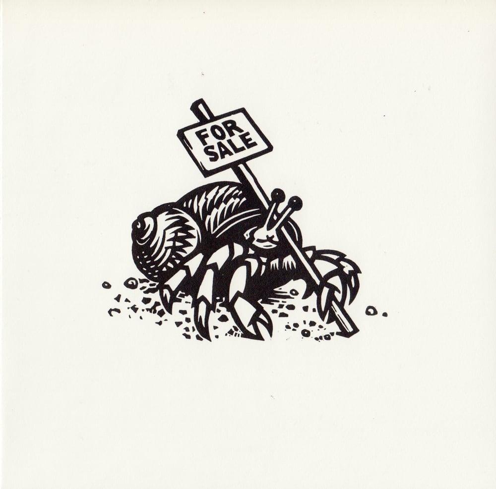 Image of Hermit Crab original linocut