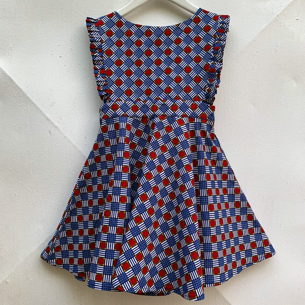 Image of Ada dress in checkers