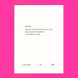 Image of The Dog - letterpress print