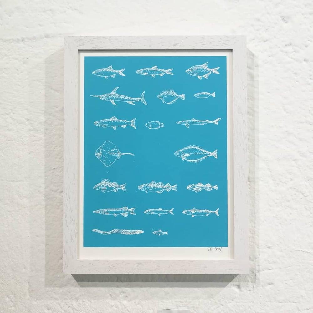 Image of POISSONS DE BURNS (mini-prints)