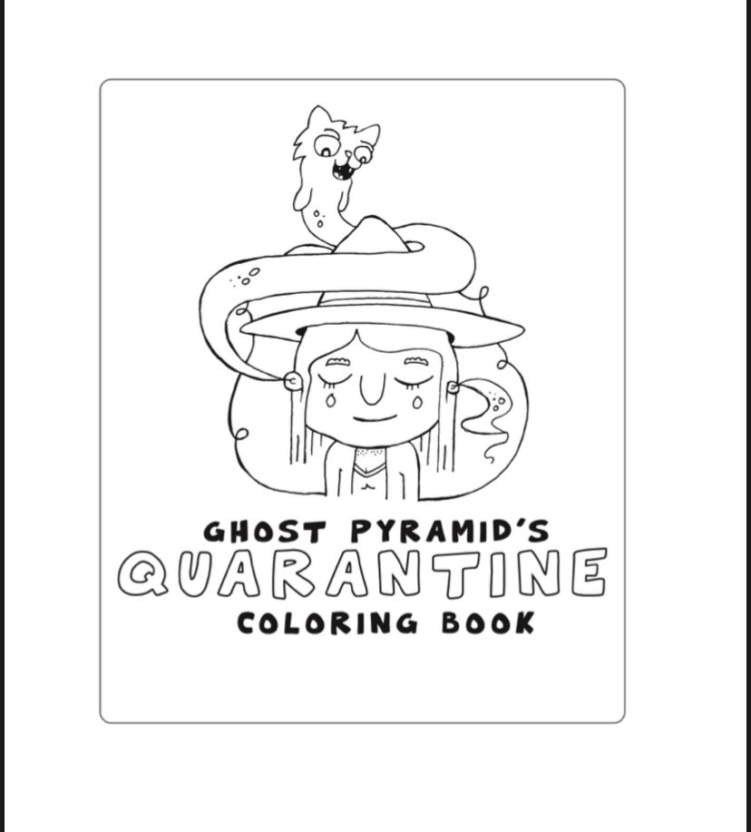 - Ghost Pyramid Quarantine Coloring Book - Volume 1 - 10 Pages (Download)  Ghost Pyramid