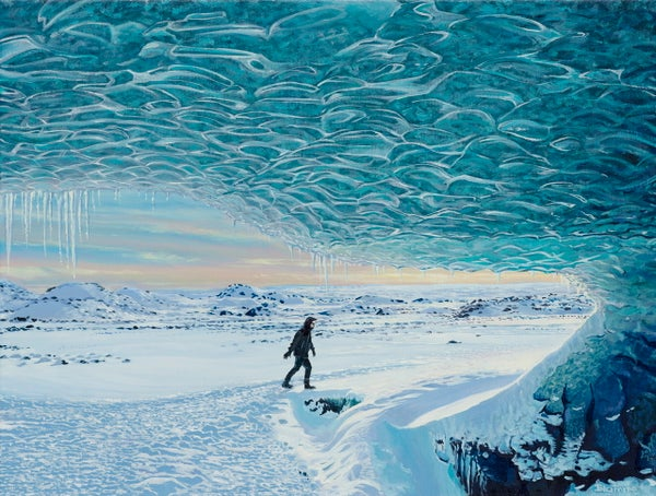 Image of Iceland ice cave giclee print