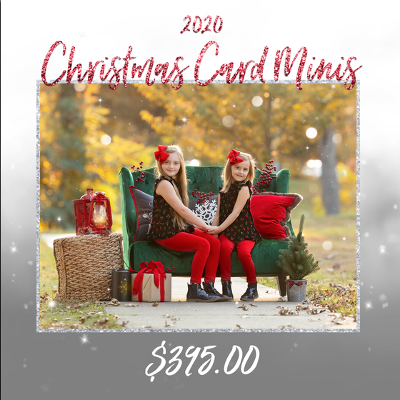 Image of {SATURDAY, OCTOBER 24TH 2020} - CHRISTMAS CARD MINI SESSIONS