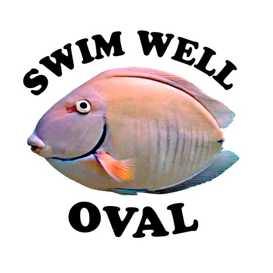 Image of Swim Well Oval Magnet
